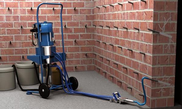 Инъекционная гидроизоляция кирпичной кладки стен