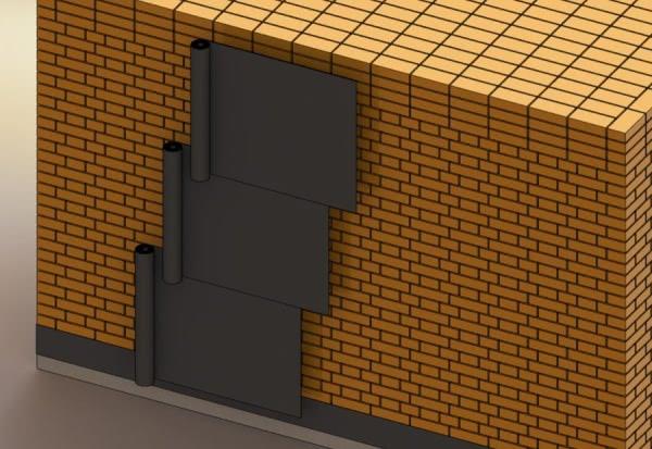 Гидроизоляция кирпичных стен зданий