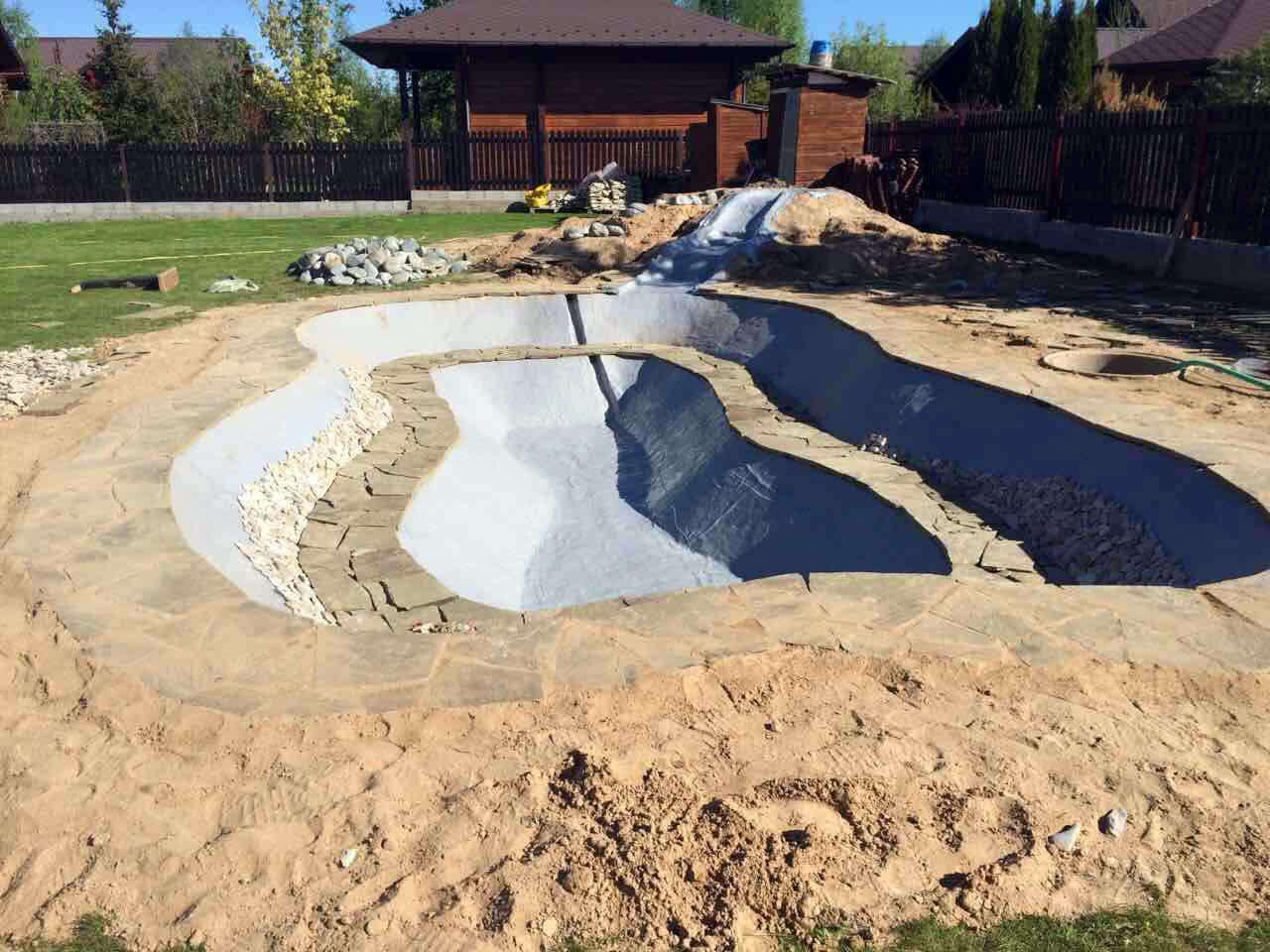 Гидроизоляция водоема бетоном