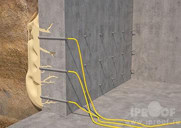 Инъектирование трещин в бетонных стенах