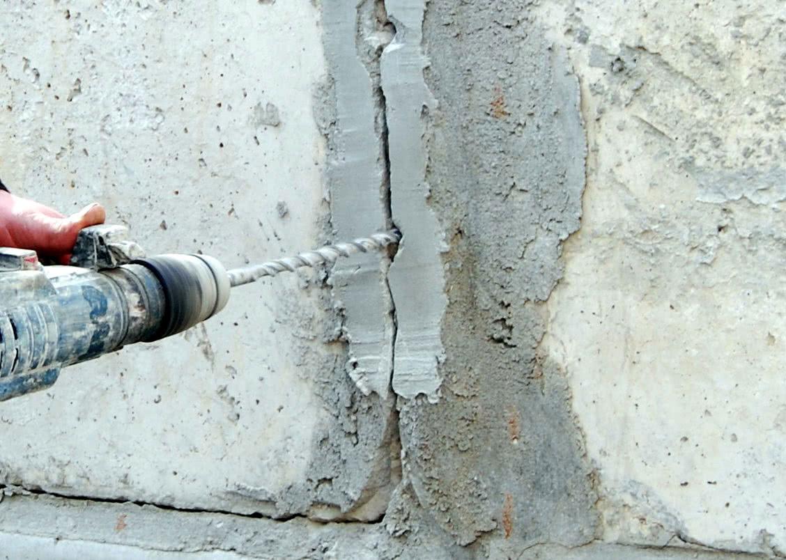Усиление стен инъектированием