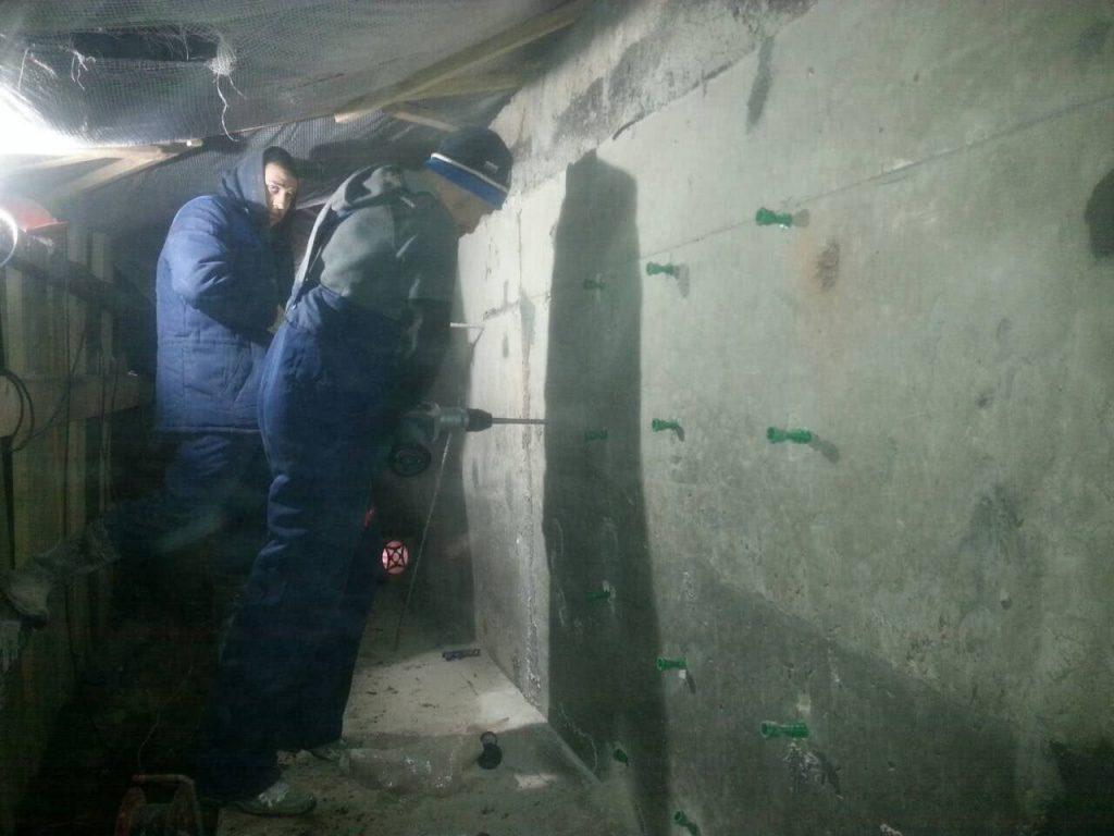 Реставрация подземной части здания