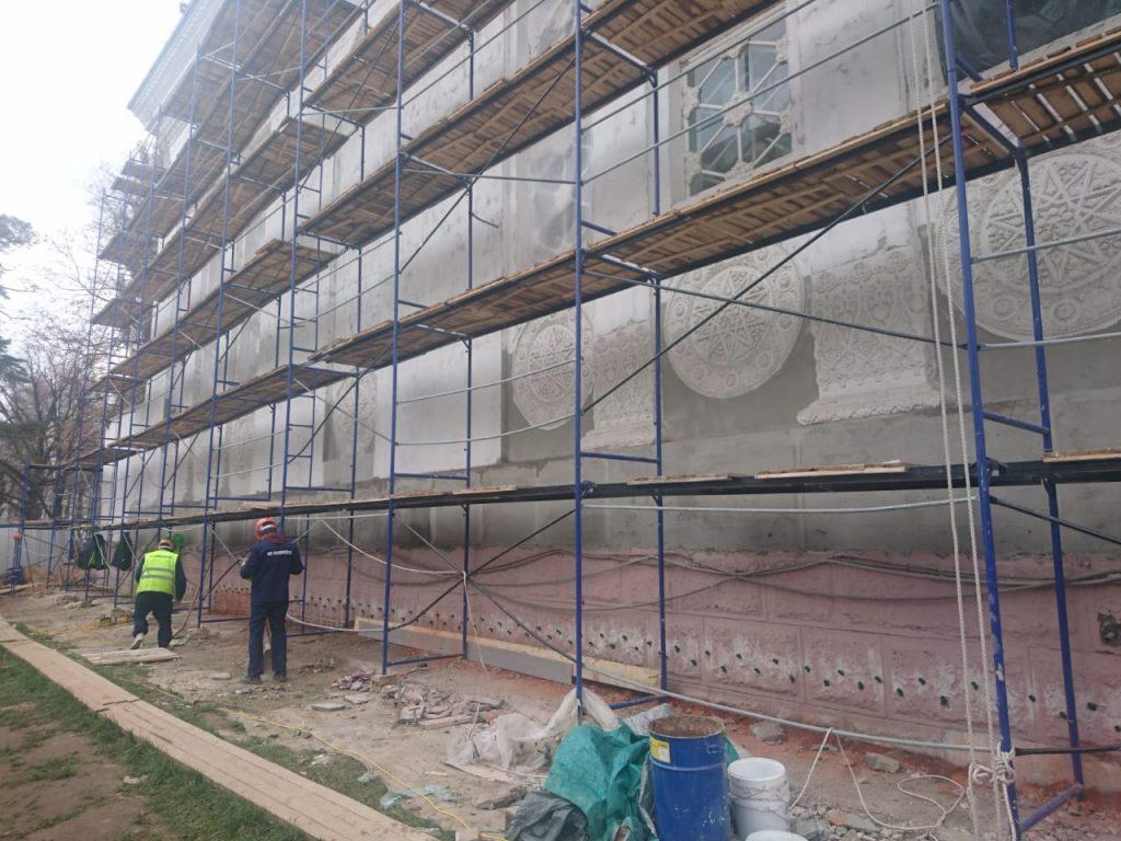 Отсечная гидроизоляция фасада и фундамента памятника культуры