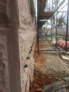 Ремонт стен и фундаментов павильона Узбекской ССР