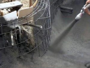Торкретирование бетонных полов